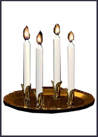 plate candle holders brass